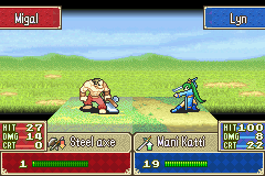 Fire Emblem - critical hit with lyn 1 - User Screenshot